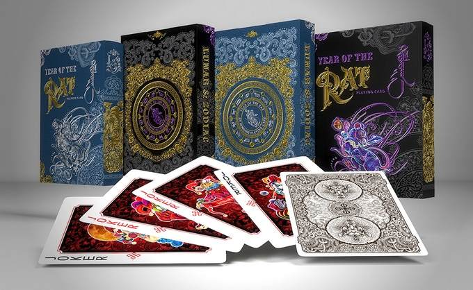 LUNAR AND ZODIAC: YEAR OF THE RAT Playing Cards  The second deck of