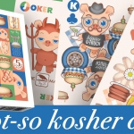 A NOT-SO KOSHER DECK. Playing cards full of friendly cannibalistic pigs