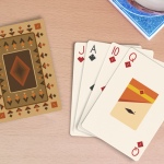 Light Roast Playing Cards. A deck with minimalist geometry