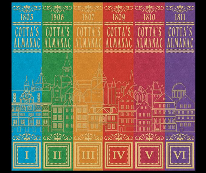 Cartes à jouer ALMANAC # 1 de COTTA : une série historique 18