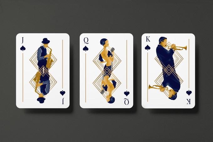 """""""GUNS, JAZZ & WHISKY"""" : cartes à jouer au style """"Années folles"""" 2"""