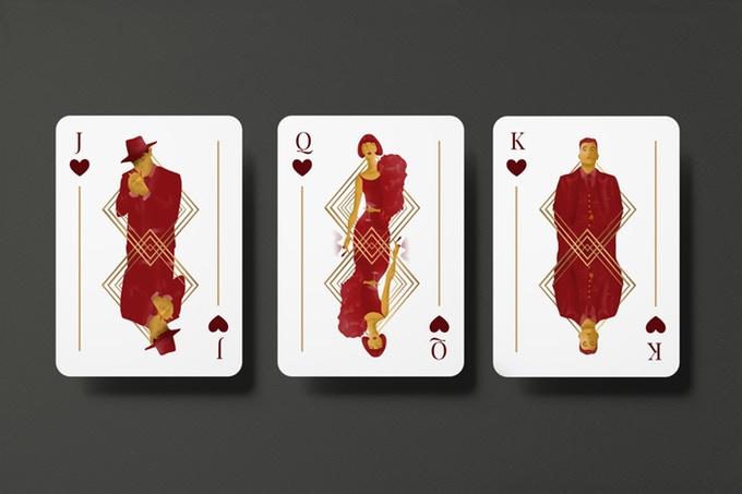 """""""GUNS, JAZZ & WHISKY"""" : cartes à jouer au style """"Années folles"""" 3"""