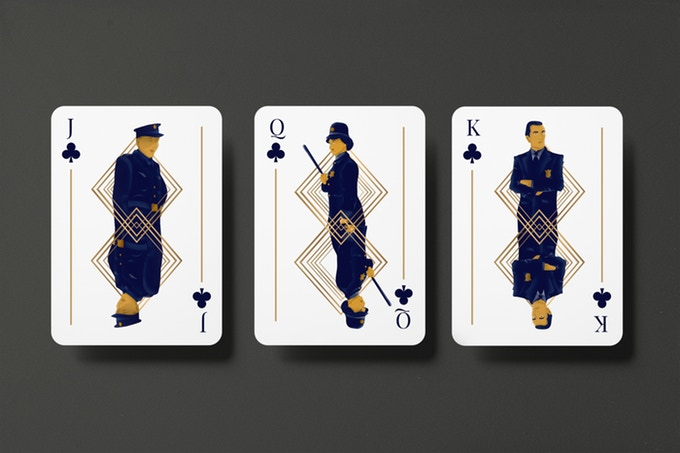 """""""GUNS, JAZZ & WHISKY"""" : cartes à jouer au style """"Années folles"""" 4"""