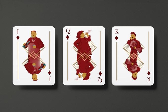 """""""GUNS, JAZZ & WHISKY"""" : cartes à jouer au style """"Années folles"""" 5"""