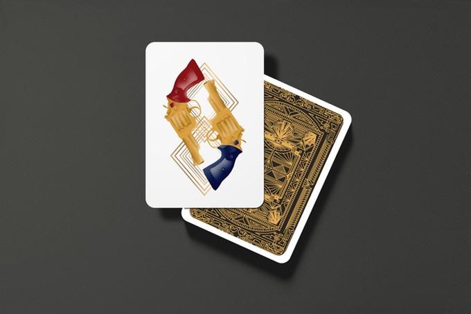 """""""GUNS, JAZZ & WHISKY"""" : cartes à jouer au style """"Années folles"""" 10"""