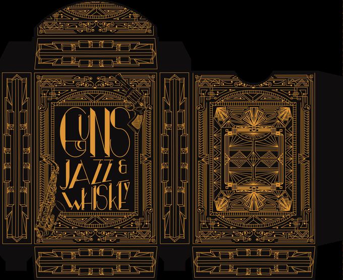 """""""GUNS, JAZZ & WHISKY"""" : cartes à jouer au style """"Années folles"""" 8"""