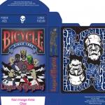 Baraja Bicycle de la Liga de los Monstruos. Pintada a mano desde el lienzo a los naipes
