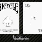 Baraja Bicycle minimalista: Helvetica. Una fuente de diseño moderno