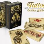 Baraja Bicycle Tattoo Gold. Grábala en tu colección