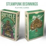 Baraja Bicycle Steampunk Beginnings. Héroes y villanos delfuturo con inspiración steampunk