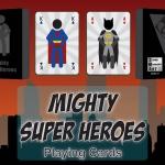 Naipes Mighty Super Heroes. Los héroes minimalistas se reúnen en una nueva baraja