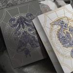 Naipes BONE AND EBON. Demonios de mundos ocultos con toques de oro y plata