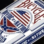 Naipes BICYCLE DIVIDE OF A NATION. Conspiraciones políticas y tesoros escondidos