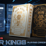 Relanzamiento de los naipes THE STAR KINGS. Un viaje espacial con estampado dorado