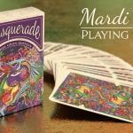 Naipes MASQUERADE MARDI GRAS. El carnaval de Brain Vessel se llena de color